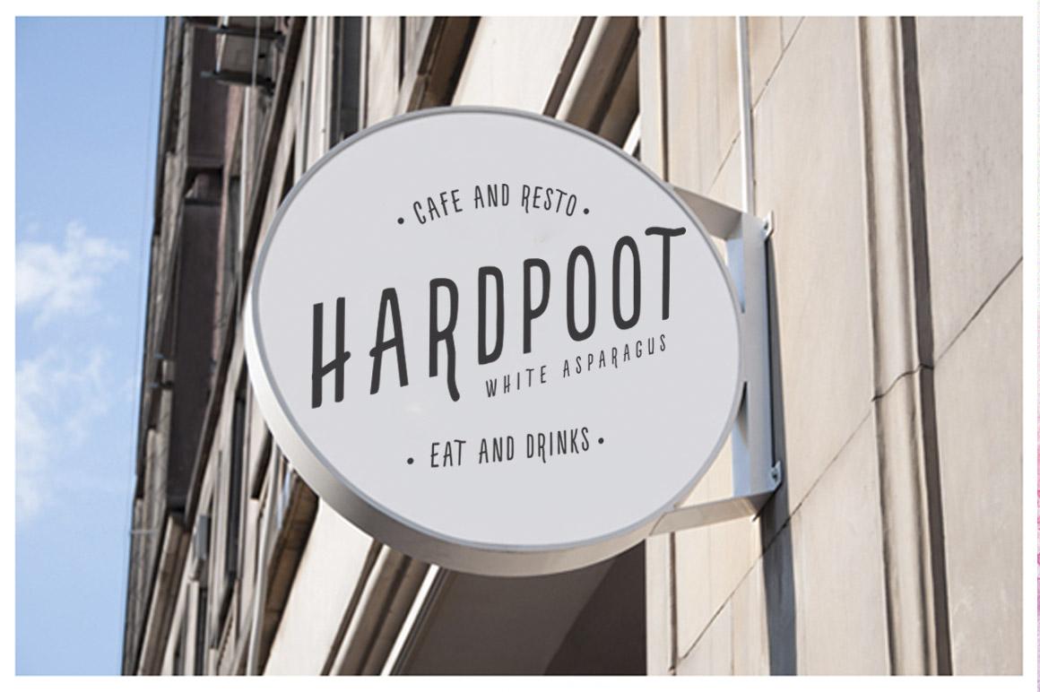 Hartbouke Skinny Font example image 10