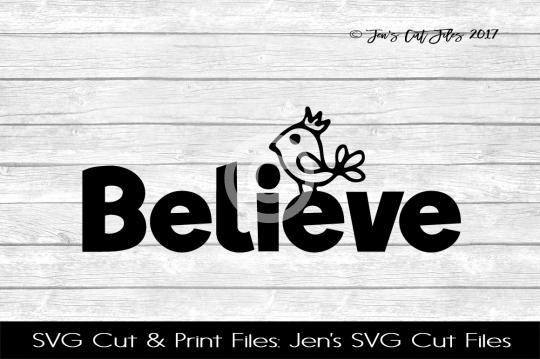 Believe SVG Cut File example image 1