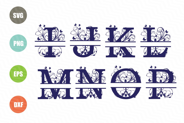 Split Letters A-Z SVG, Split Numbers 0-9 SVG example image 3