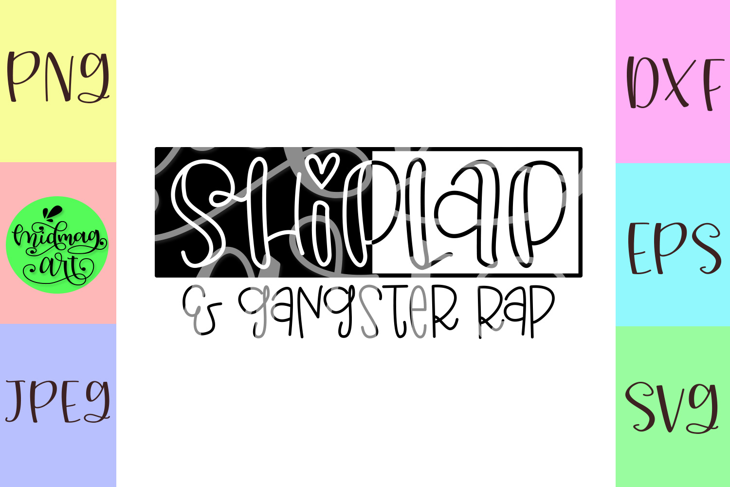 Shiplap and gangster rap svg example image 2