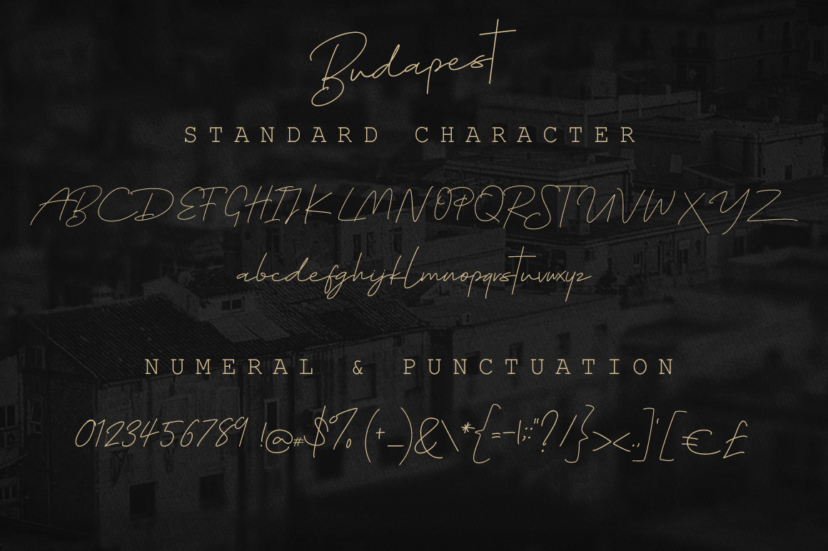 Budapest Script Font - 6 Fonts example image 2
