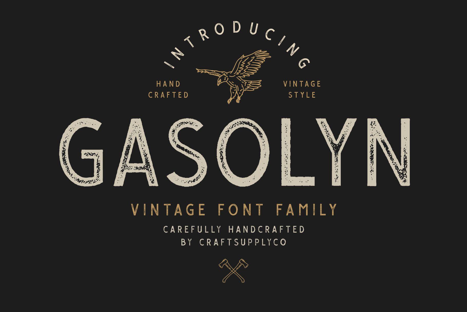 Gasolyn Font Family Bonus Extras example image 1