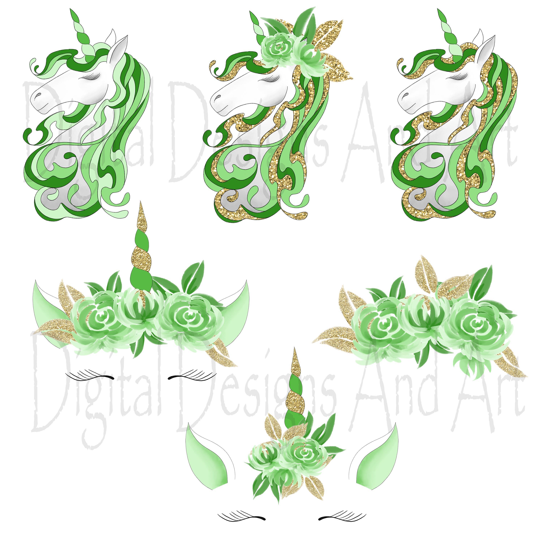 Unicorn in green example image 5