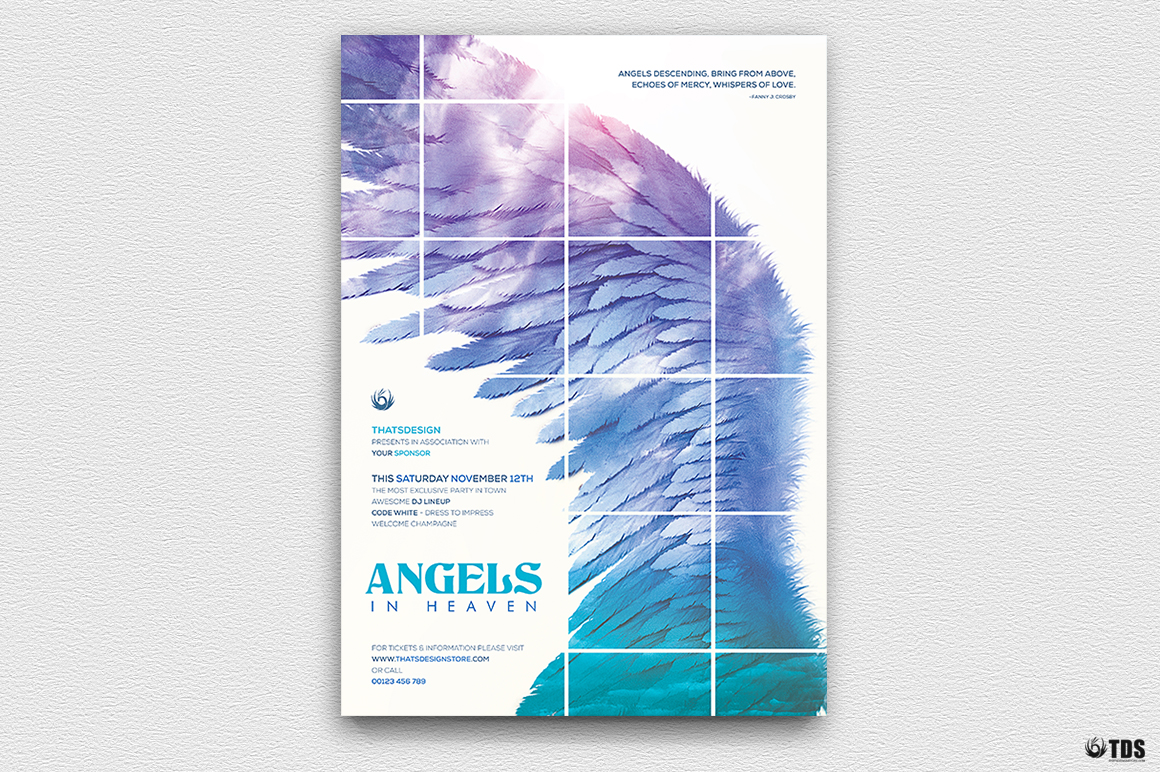 Angels in Heaven Flyer Template example image 3