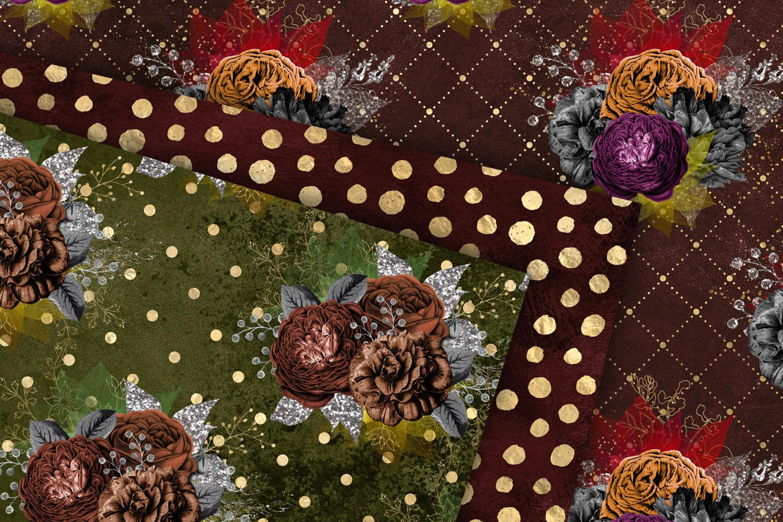 Autumn Floral Digital Paper example image 2