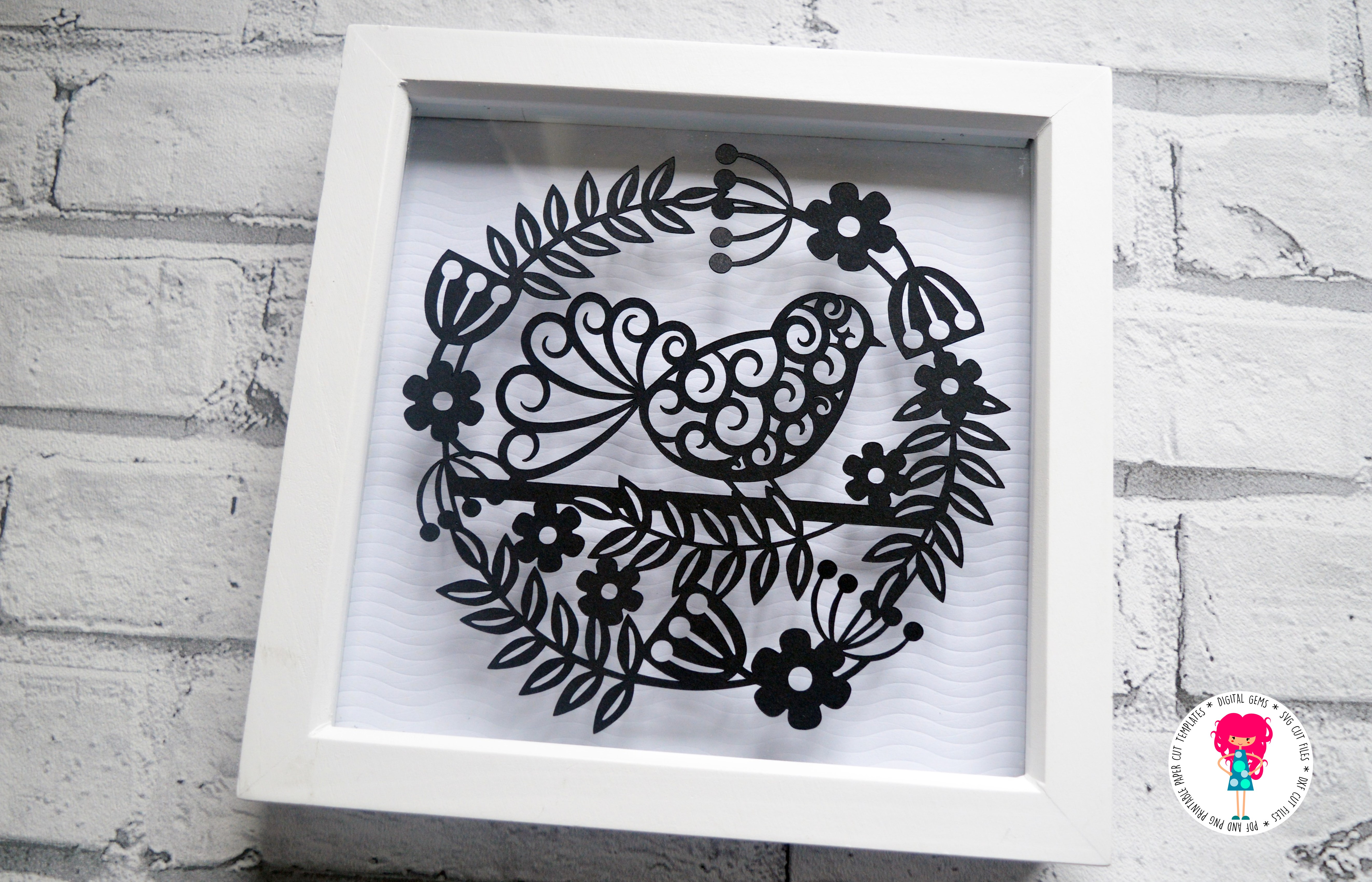 Bird Paper Cut SVG / DXF / EPS Files example image 5