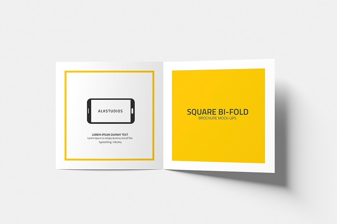 Square Bi-fold Brochure Mock-Up example image 6