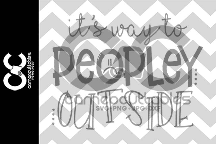 It's Way To Peopley Outside SVG,JPG,PNG,DXF example image 2