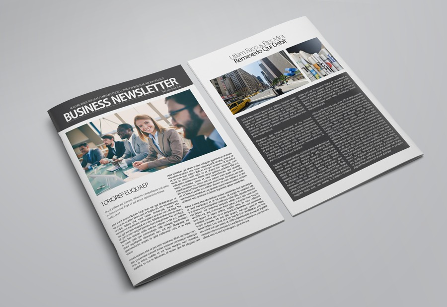 Business Newsletter Template example image 7