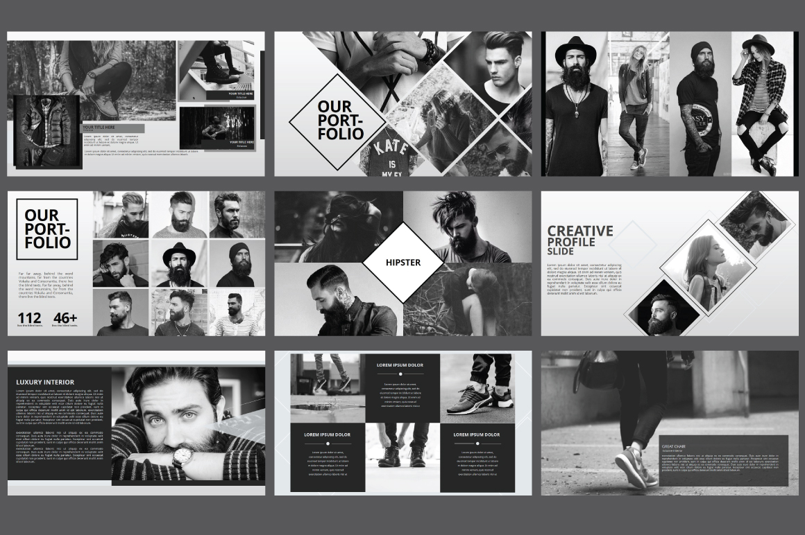 Hipster business Powerpoint Template example image 6