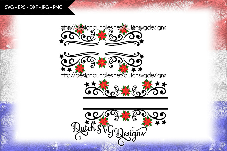 2 Split name cutting files, christmas svg, monogram svg example image 2