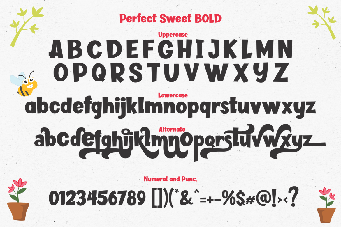 Perfect Sweet - Font Trio and 150 Colourful Vectors example image 15