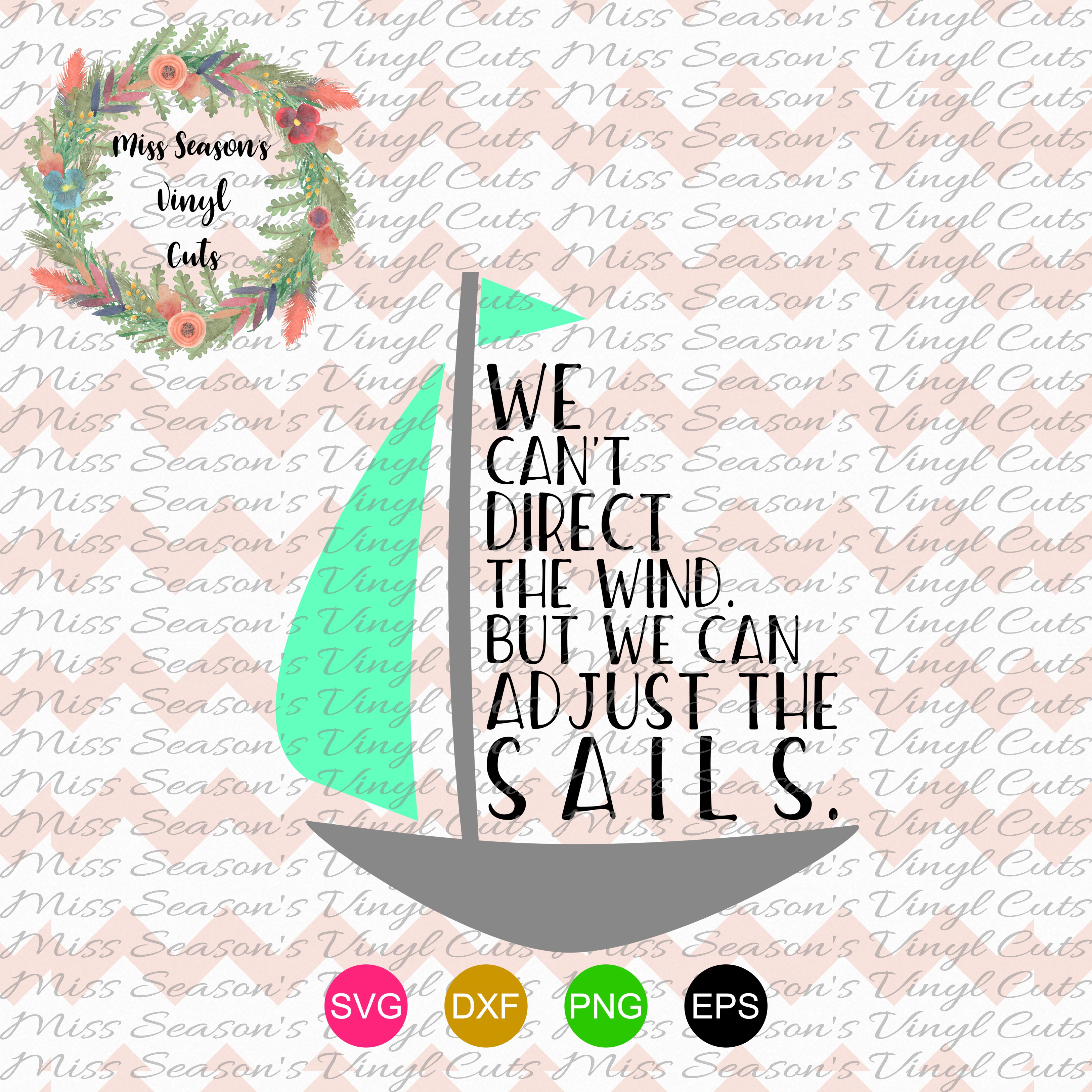 Sailboat Quote SVG  example image 1