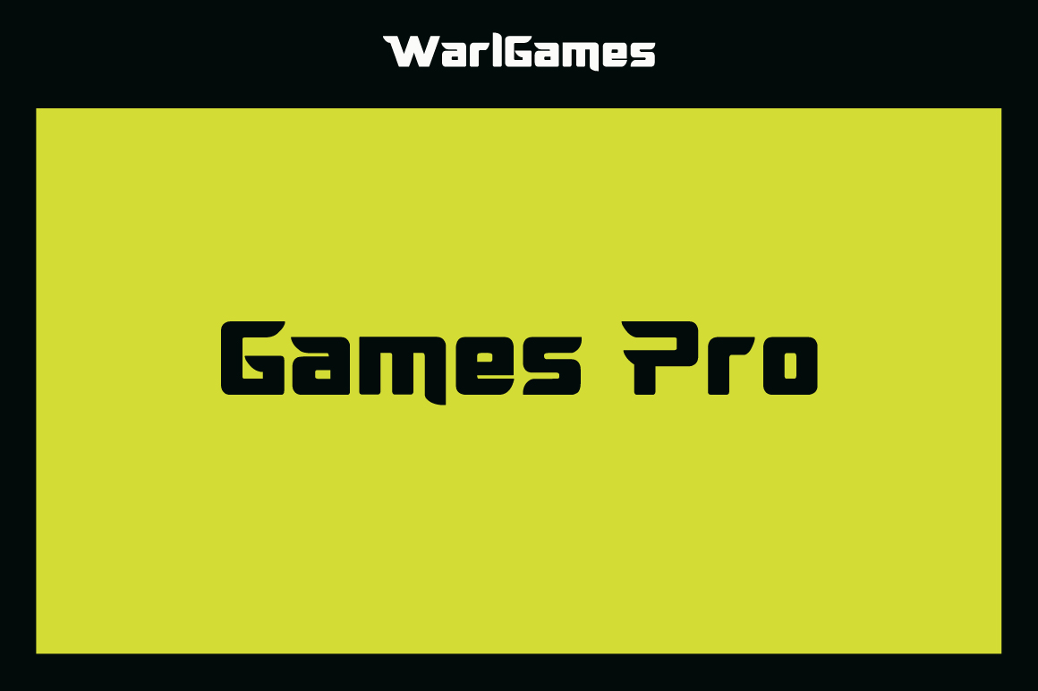 WarlGames Font example image 4