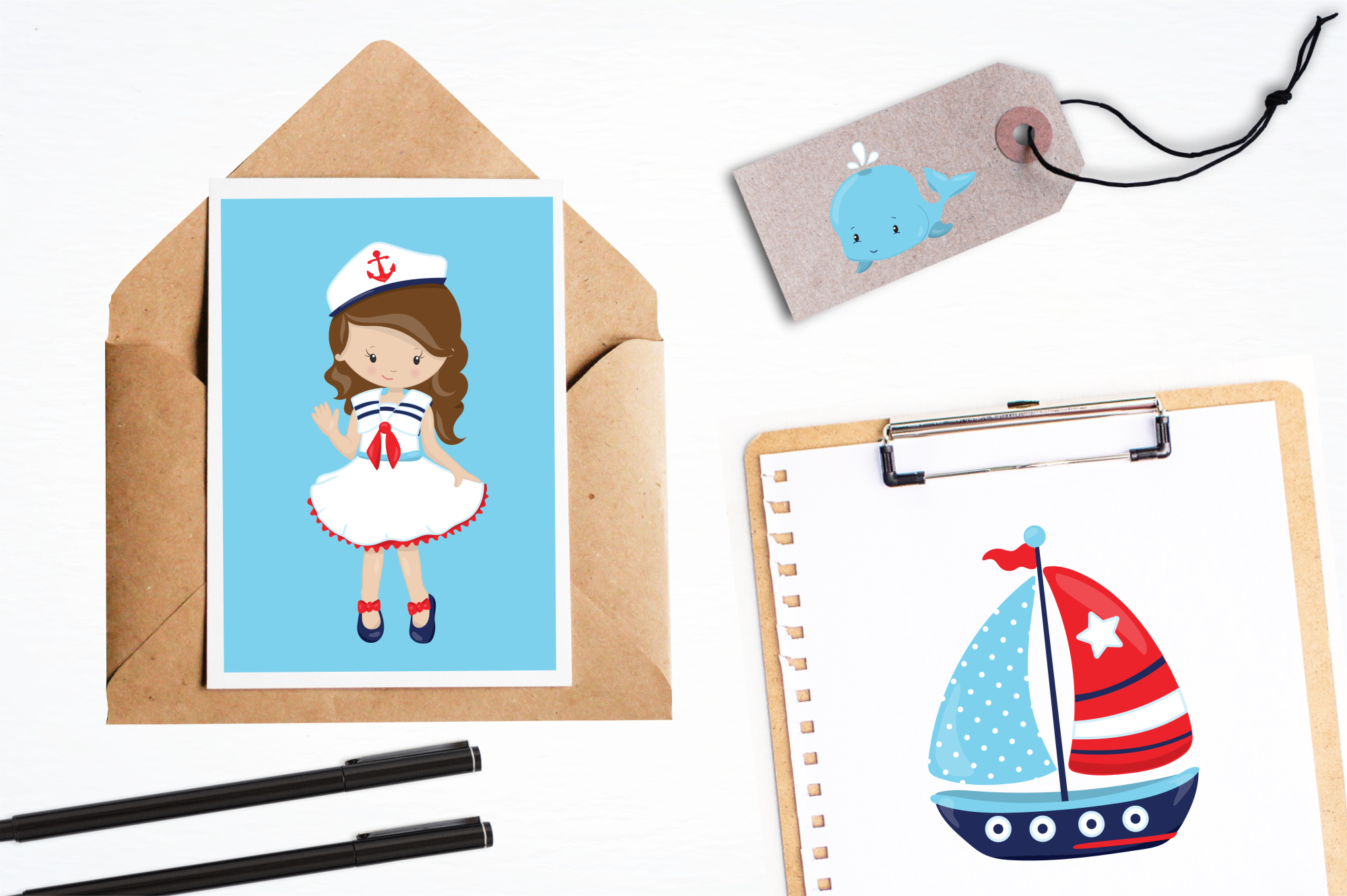 Nautical graphics and illustrations example image 4