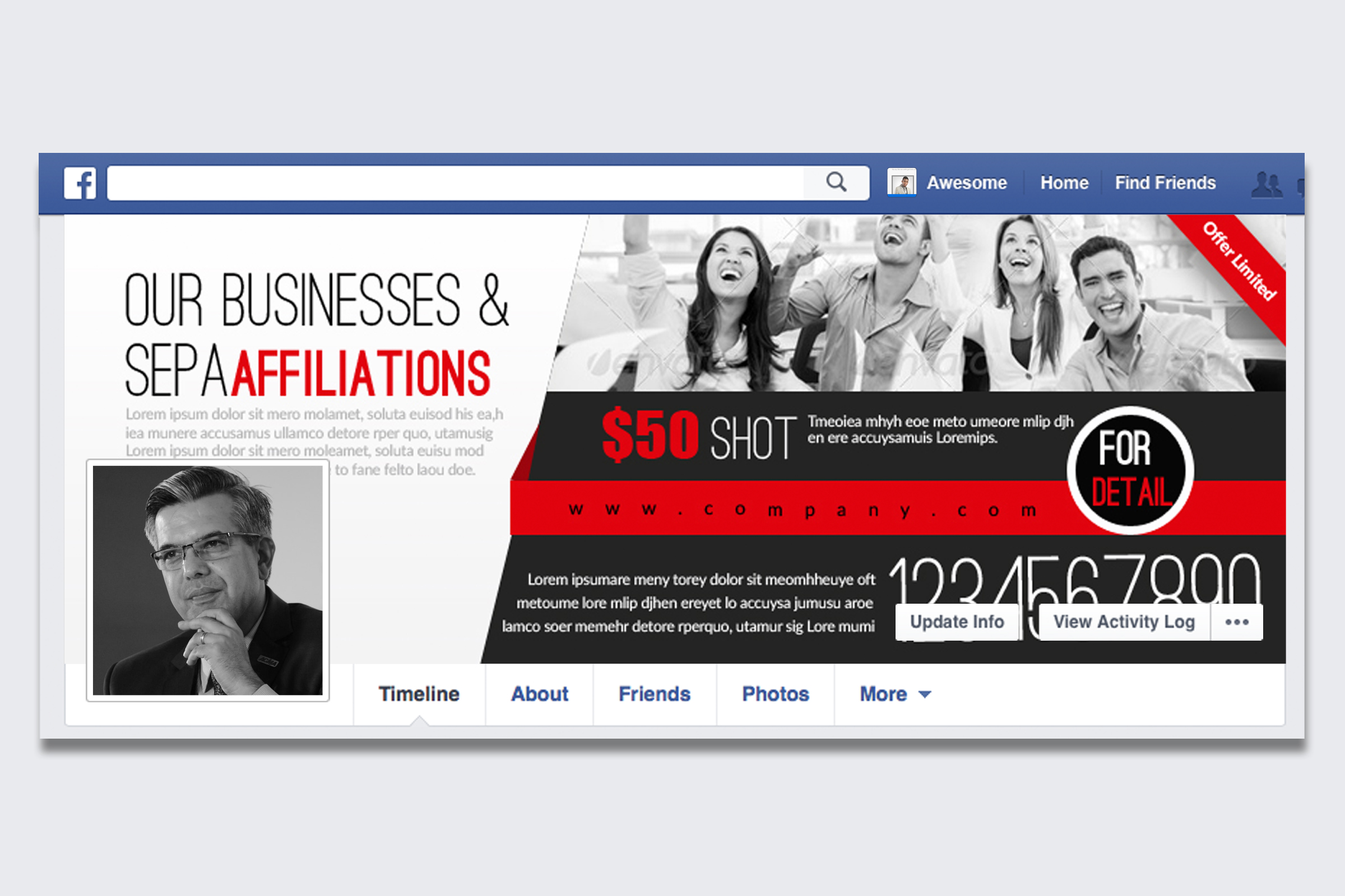 Corporate Facebook Timeline Cover example image 1