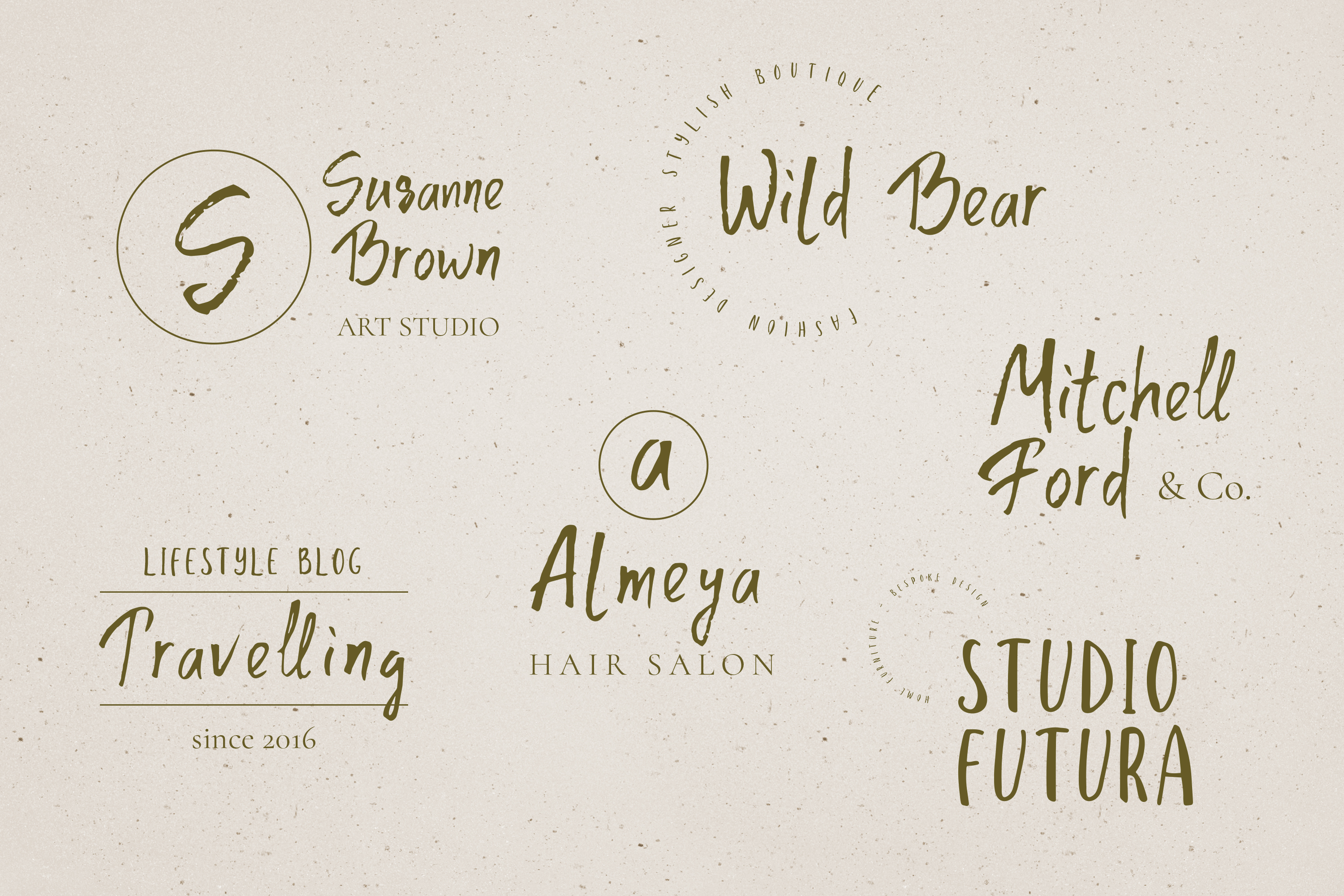 Parapluie Font Duo plus 6 Logos & Extra swashes example image 8