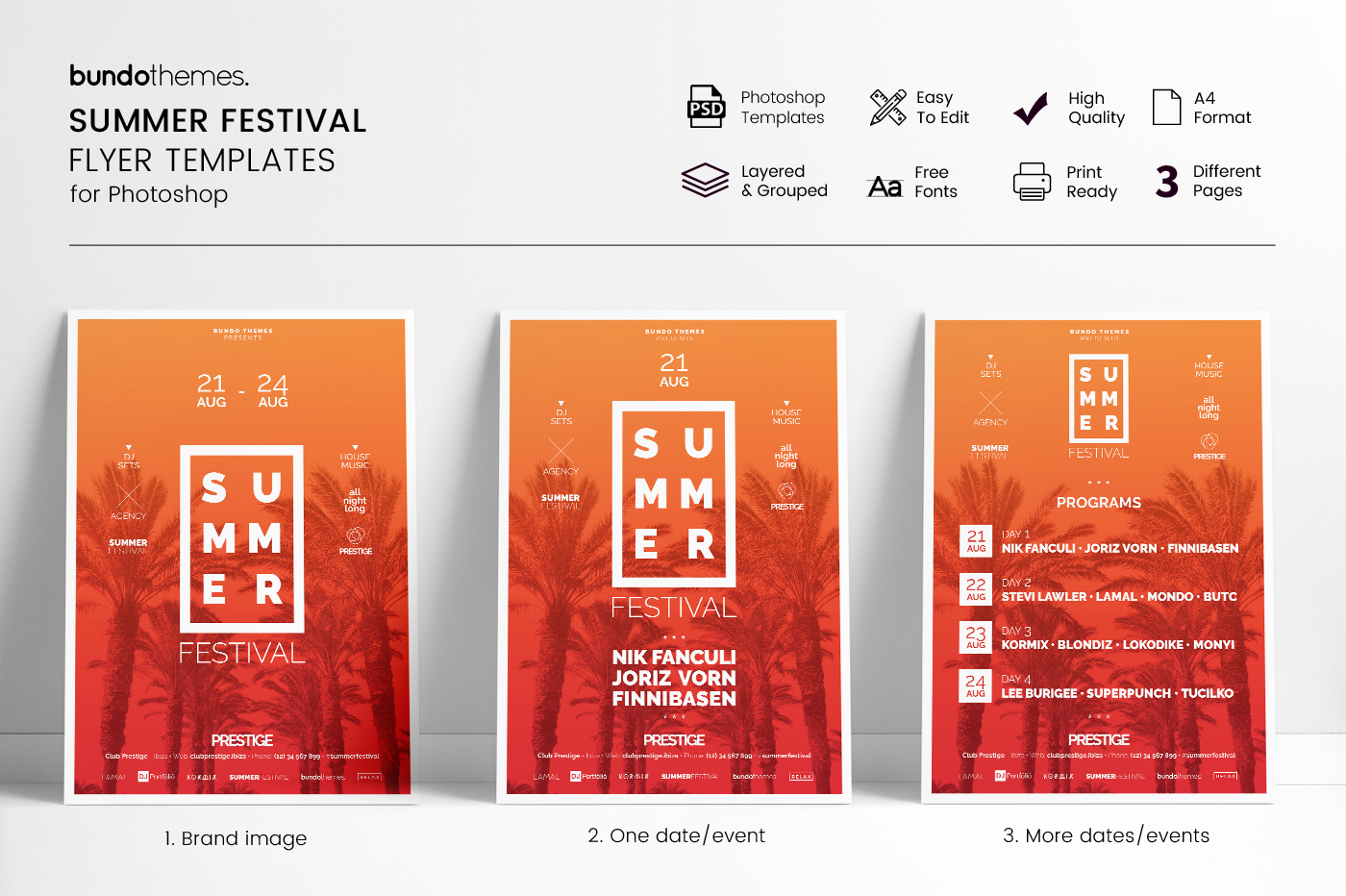 Summer Festival Flyer Templates example image 1
