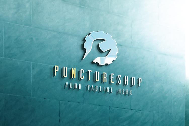 Puncture Mechanic Shop Logo example image 4