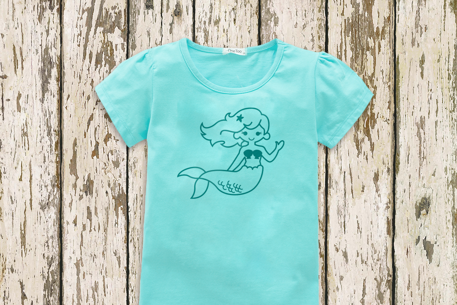 Cute Mermaid SVG File Cutting Template example image 2