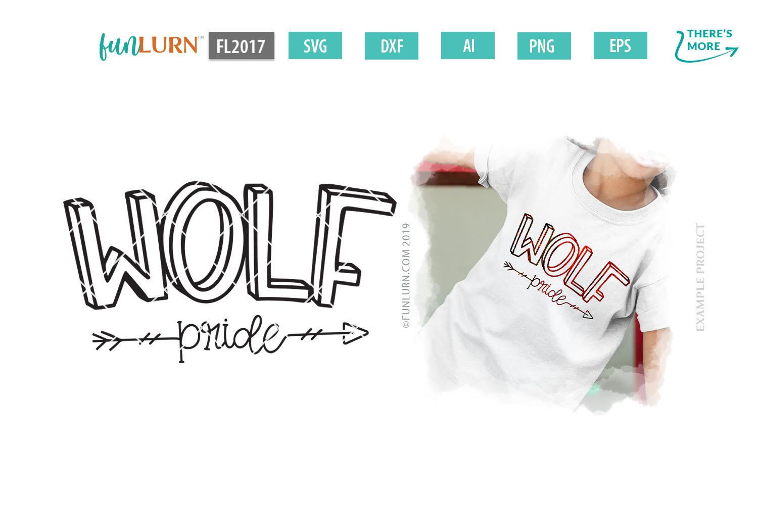 Wolf Pride Team SVG Cut File example image 1