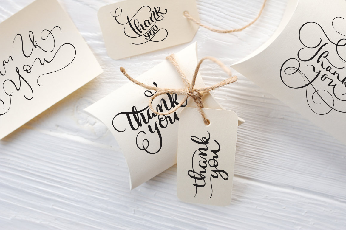 Thank You Calligraphy Lettering Collection example image 8