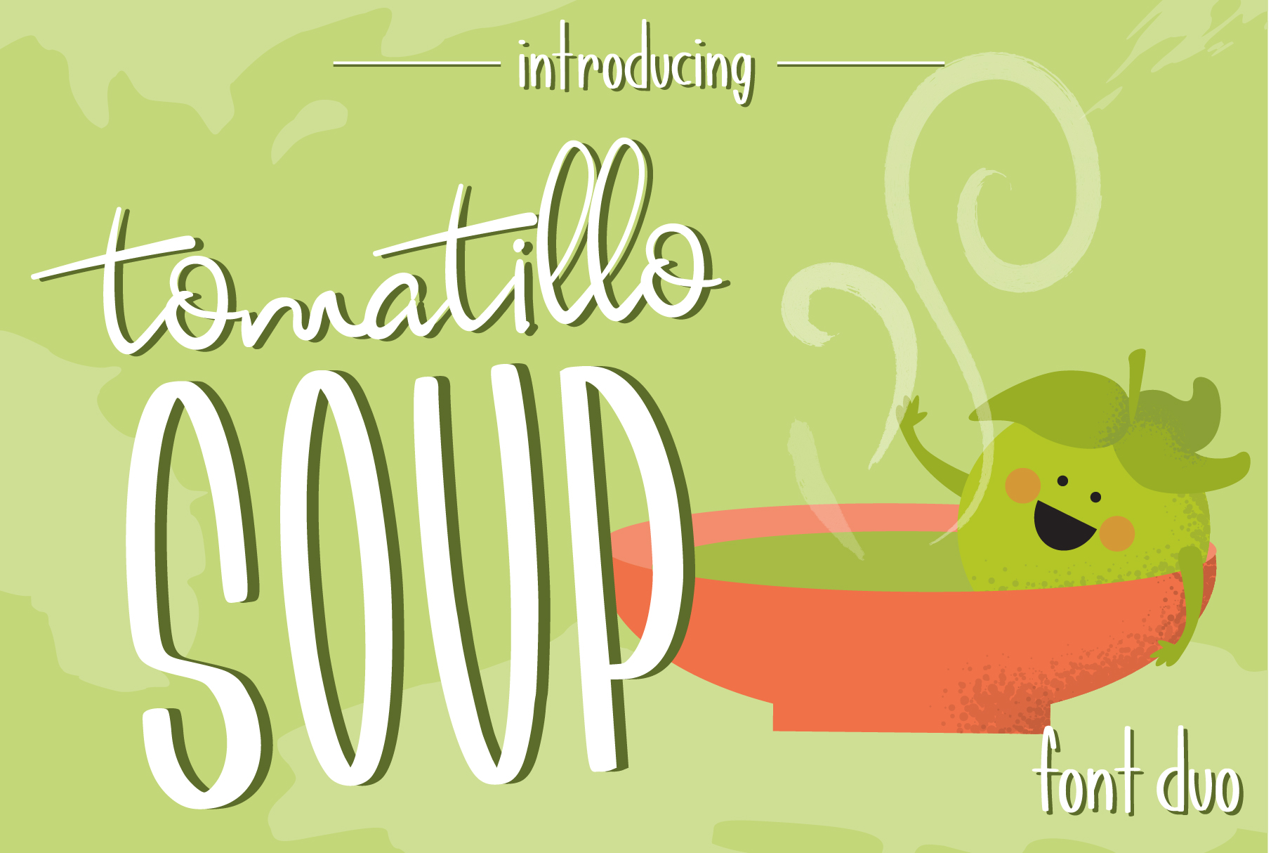 Tomatillo Soup Font Duo example image 1