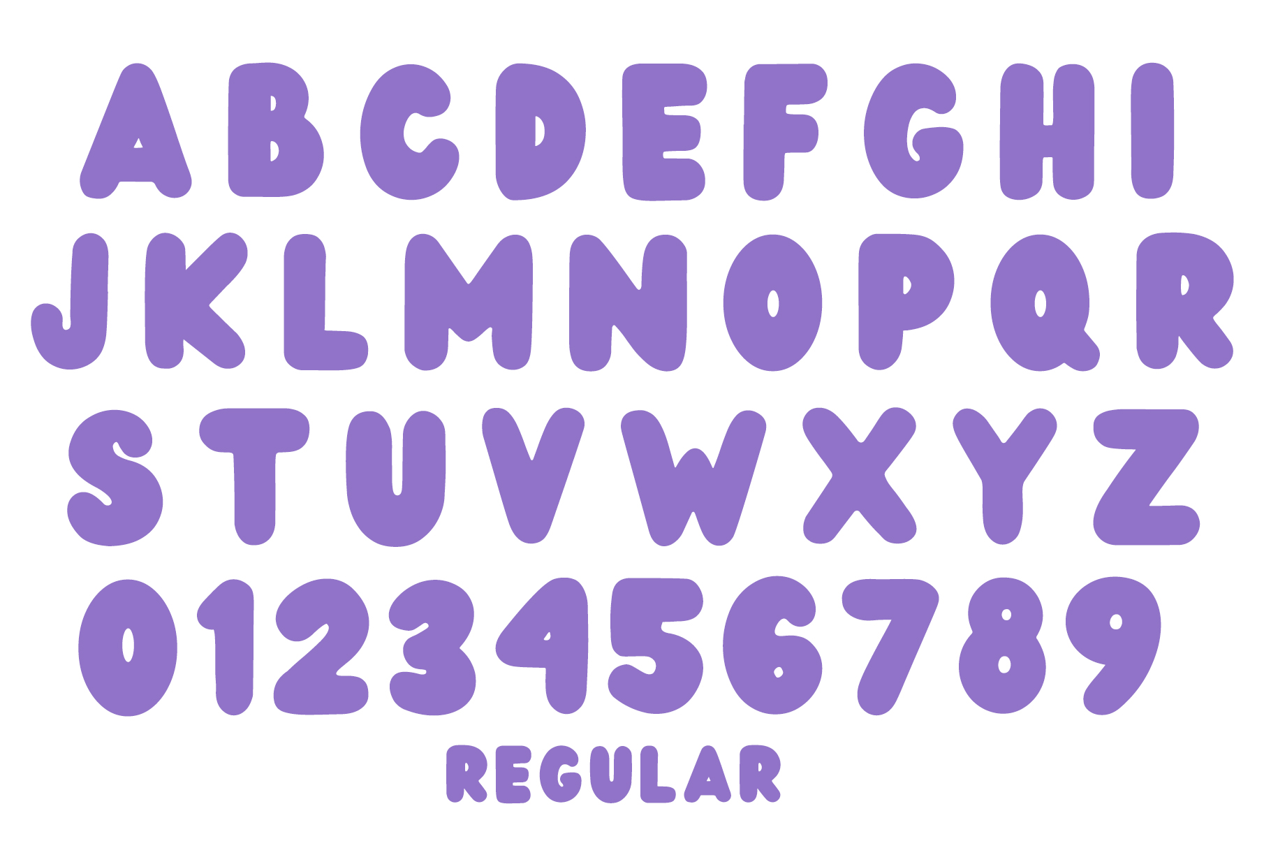 Wedges - Fun Rounded Weight Font example image 7