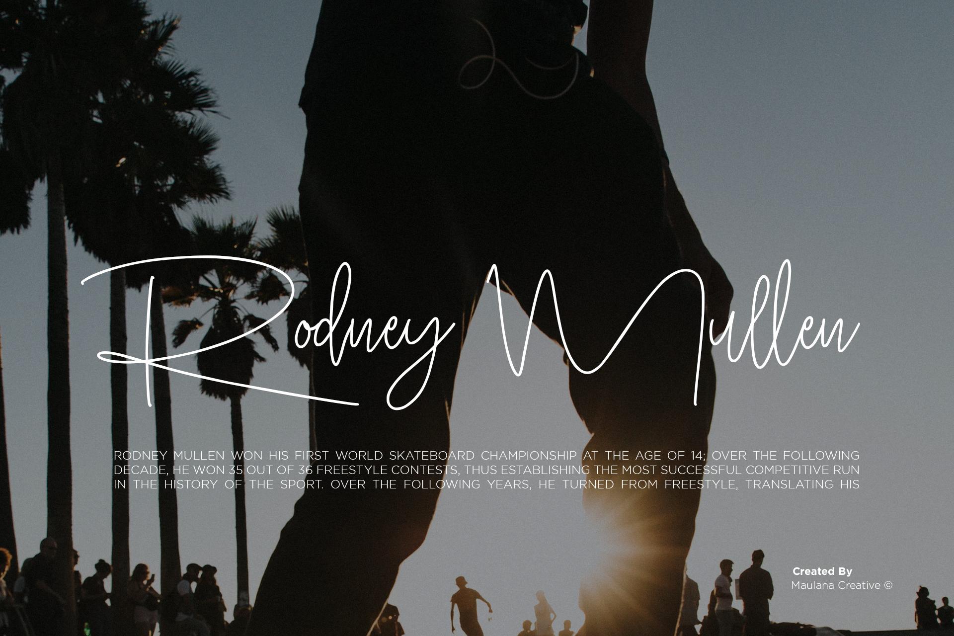 Hobbies Signature Font example image 9