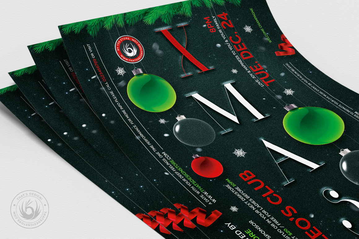 Christmas Eve Flyer Template V13 example image 5