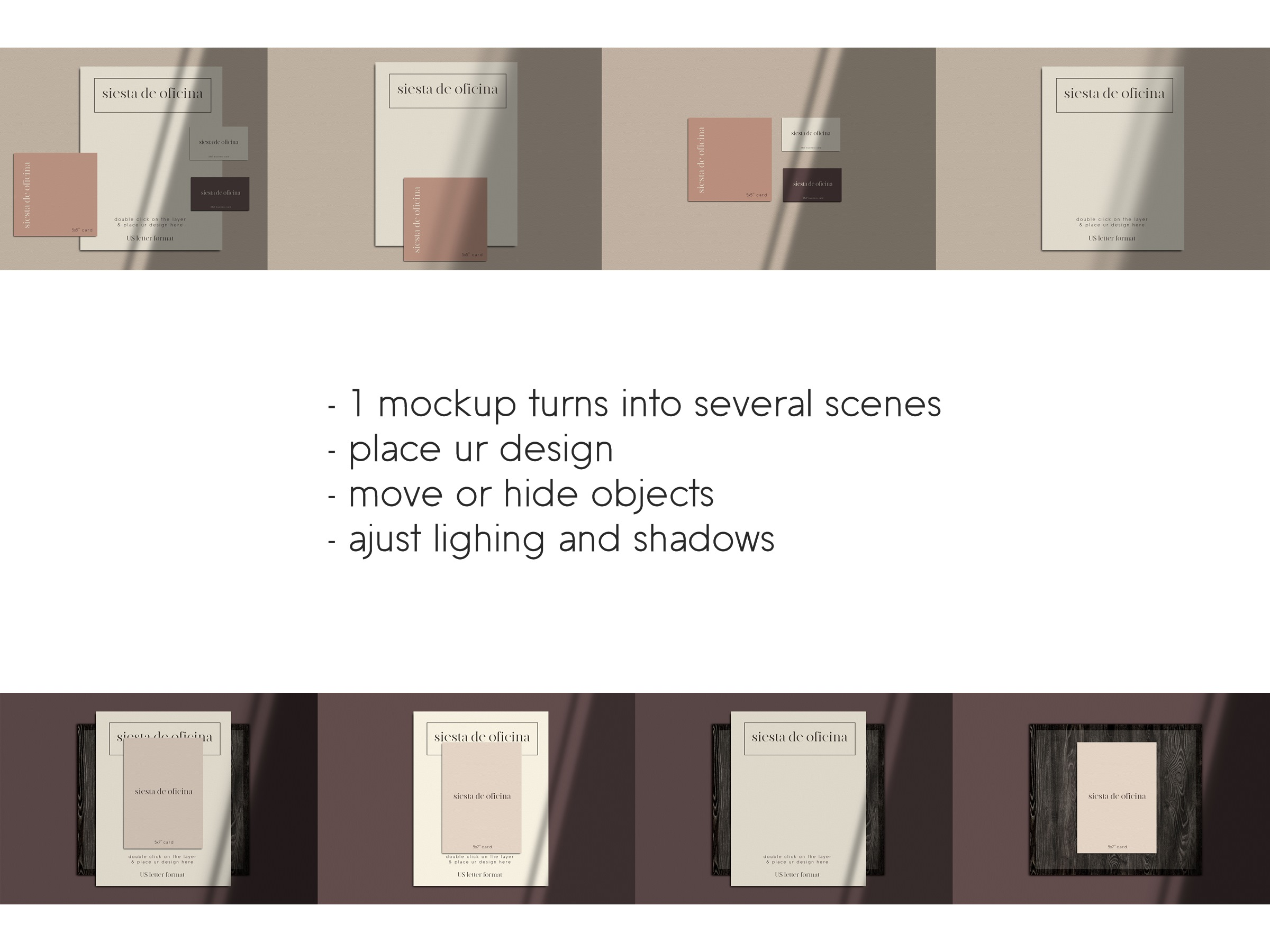 Stationery Scene Creator - Realistic Mockup example image 3