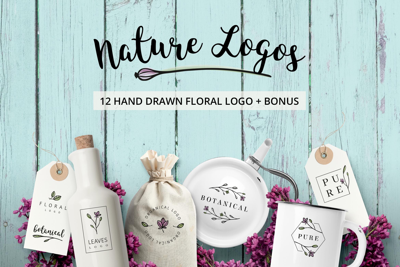 Nature & floral logos + BONUS example image 1