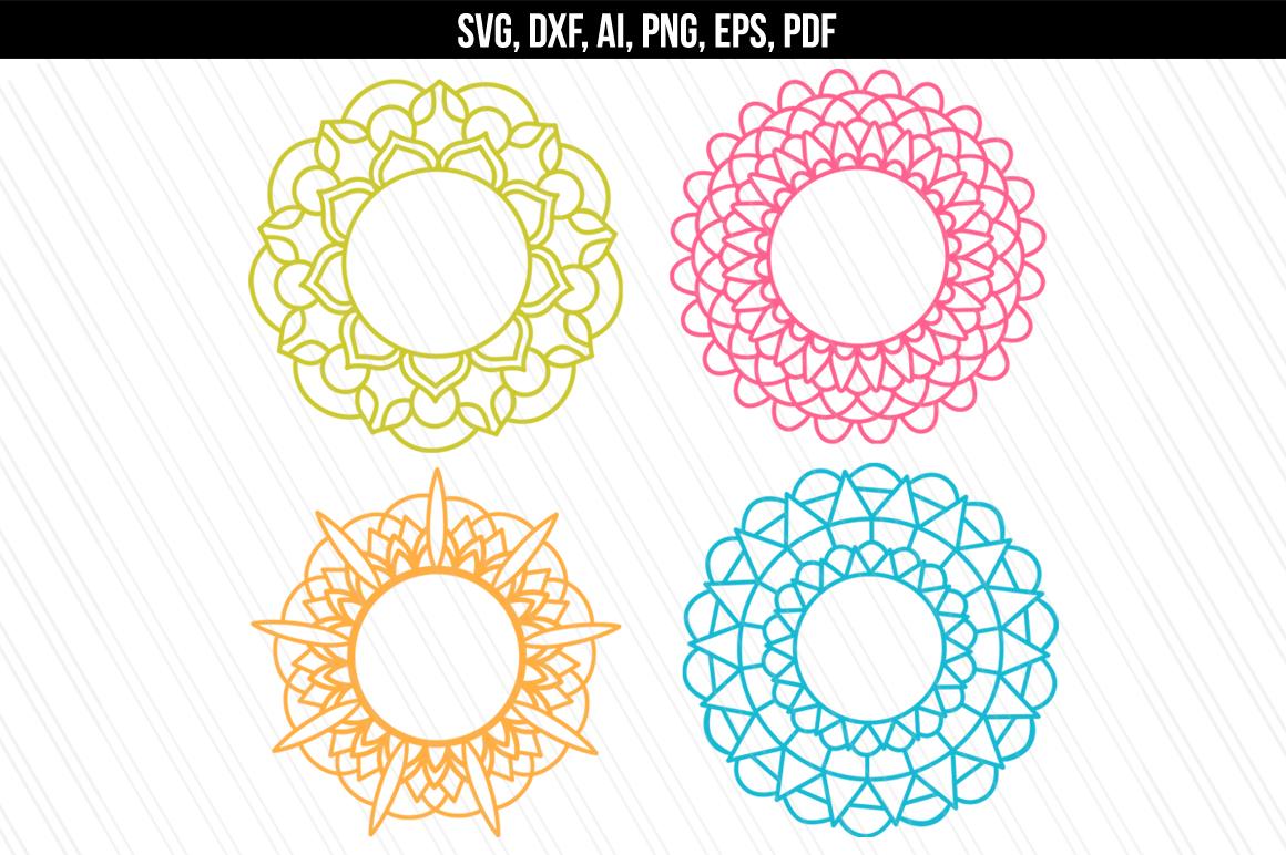 Mandala svg/dxf cutting files example image 1