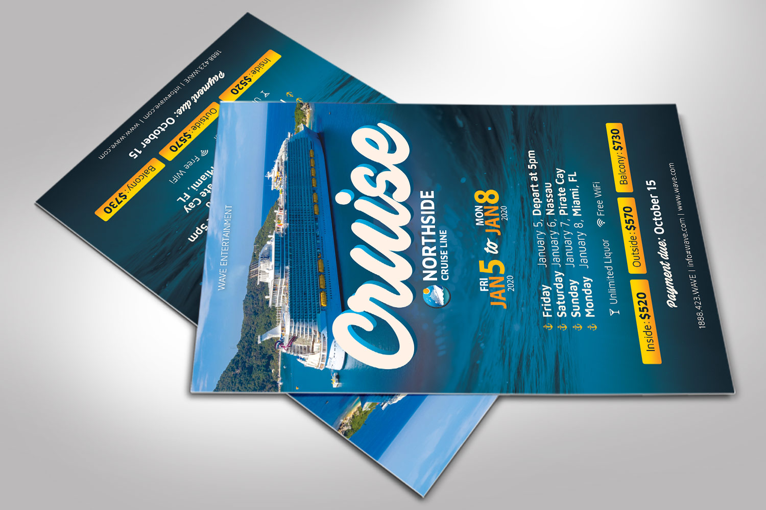 Cruise Travel Flyer Photoshop Template example image 4