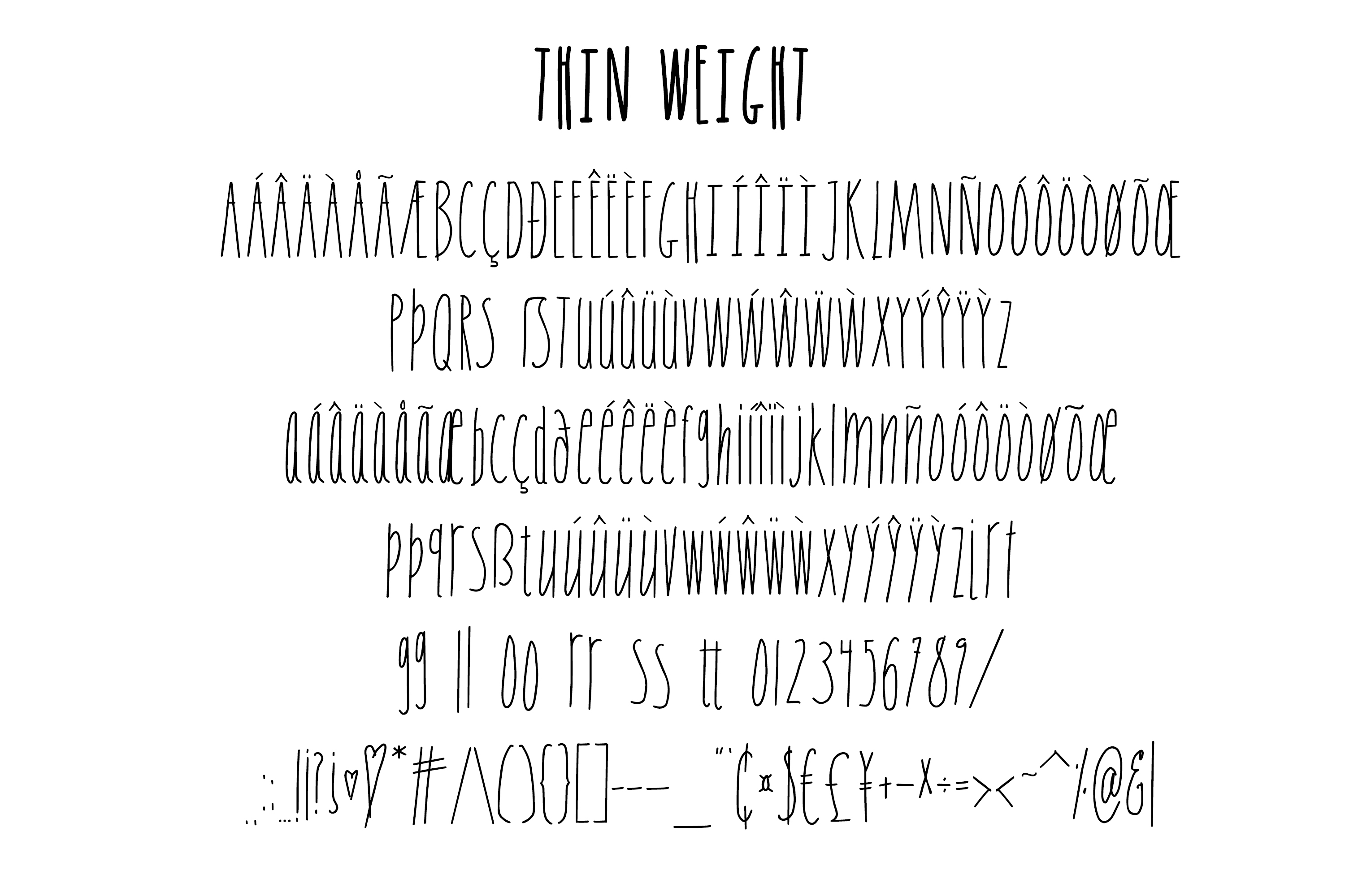 Skinny Sans and Chubby too, Sans Serif font example image 10