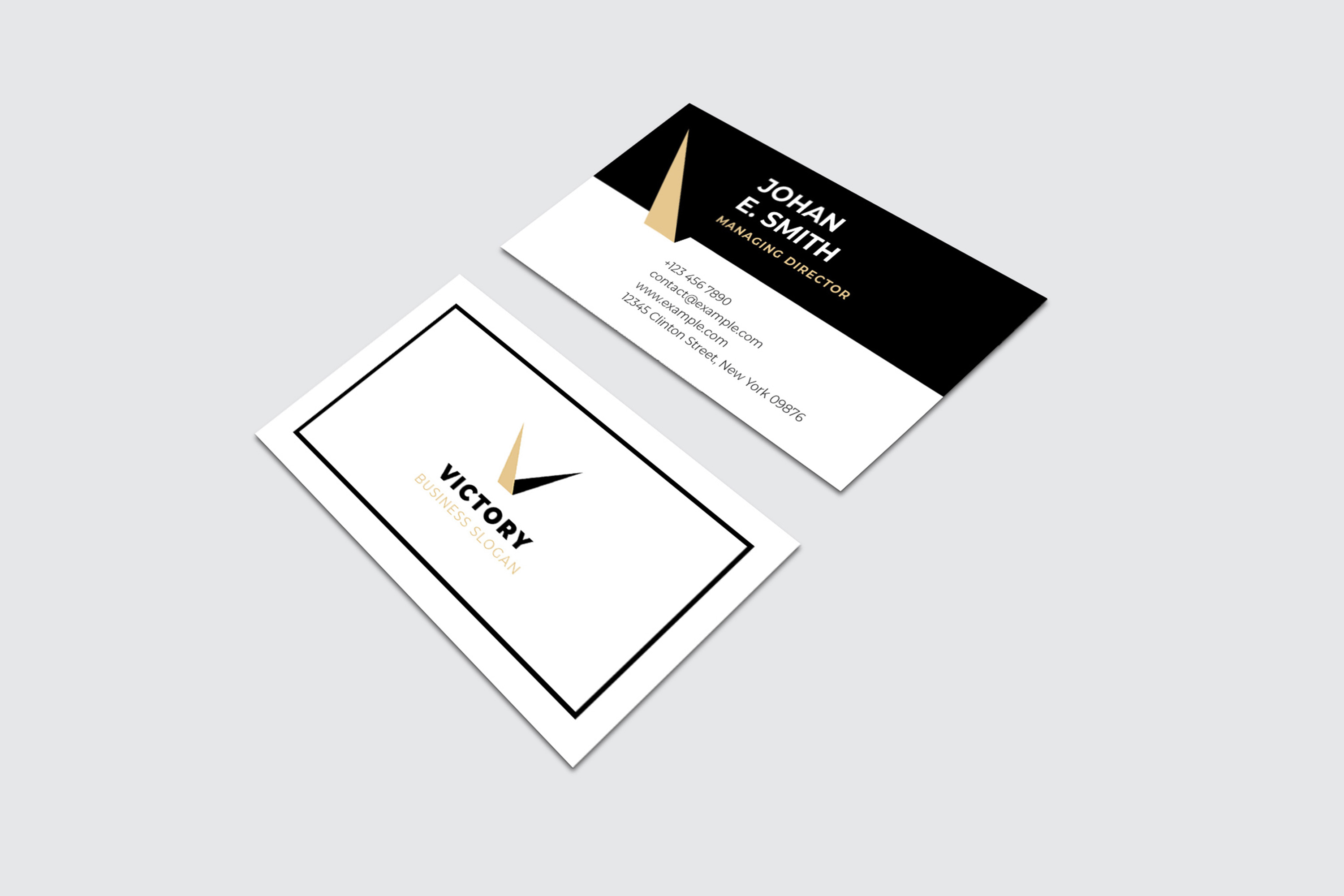 Modern Business Card Template example image 3