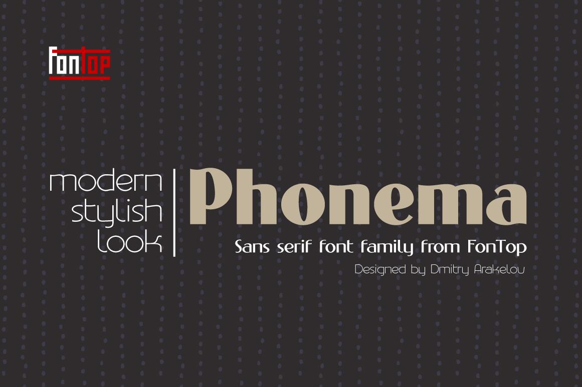 PHONEMA font family example image 1