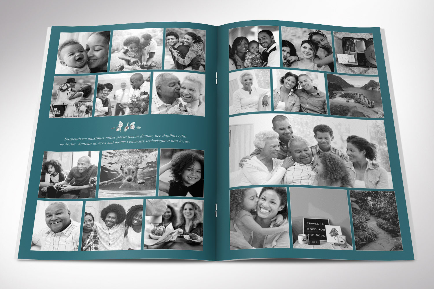 Blossom Funeral Program Word Publisher Template | 8 Pg example image 3