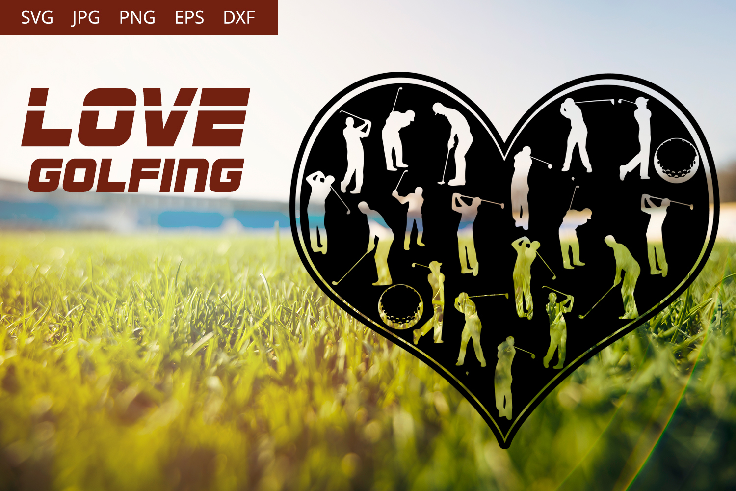 Love Golfing SVG Vector example image 1