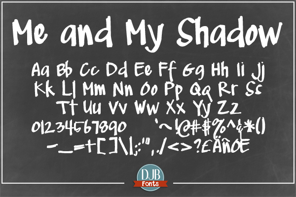 DJB Me and My Shadows Font Bundle example image 4