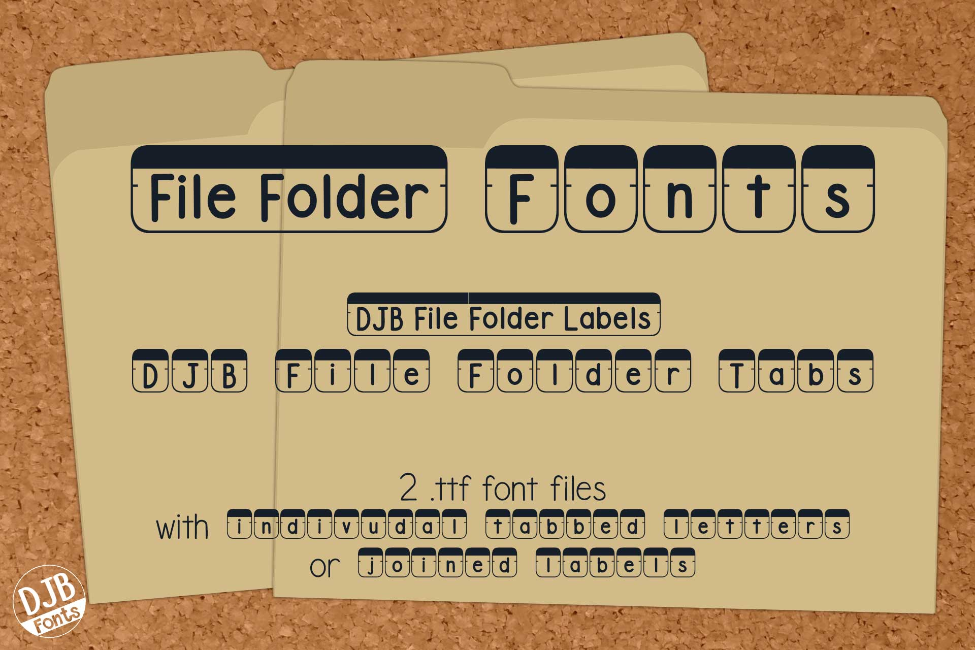 DJB File Folder Fonts example image 1