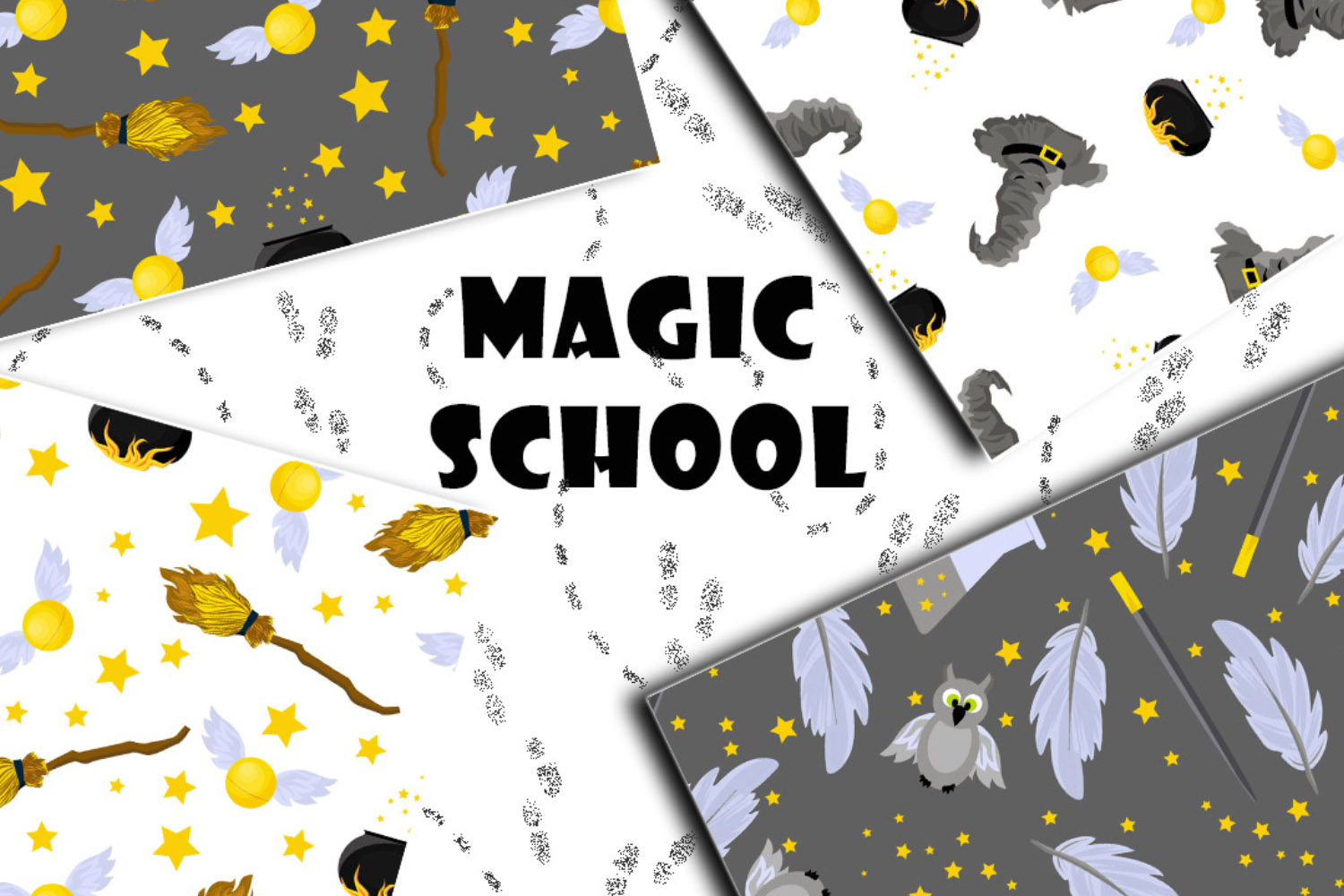 School of Magic Pattern Set Theme - Harry Potter, Hogwarts example image 1