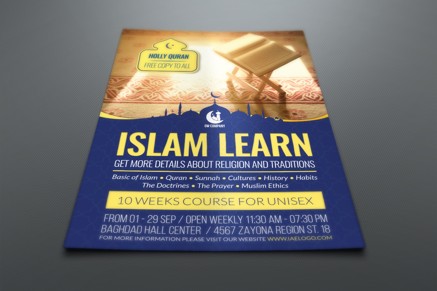 Islamic Flyer Template example image 2