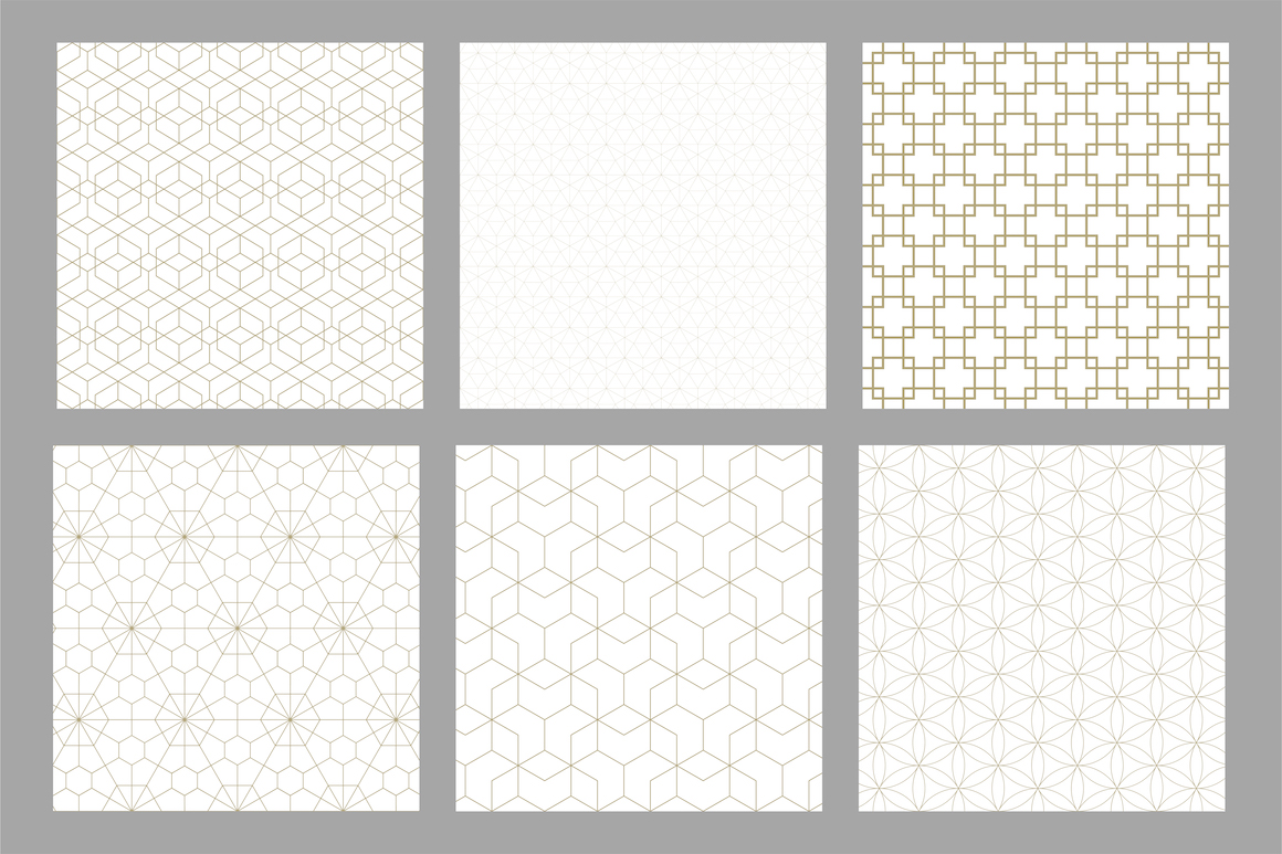 Set of ornamental seamless patterns example image 10