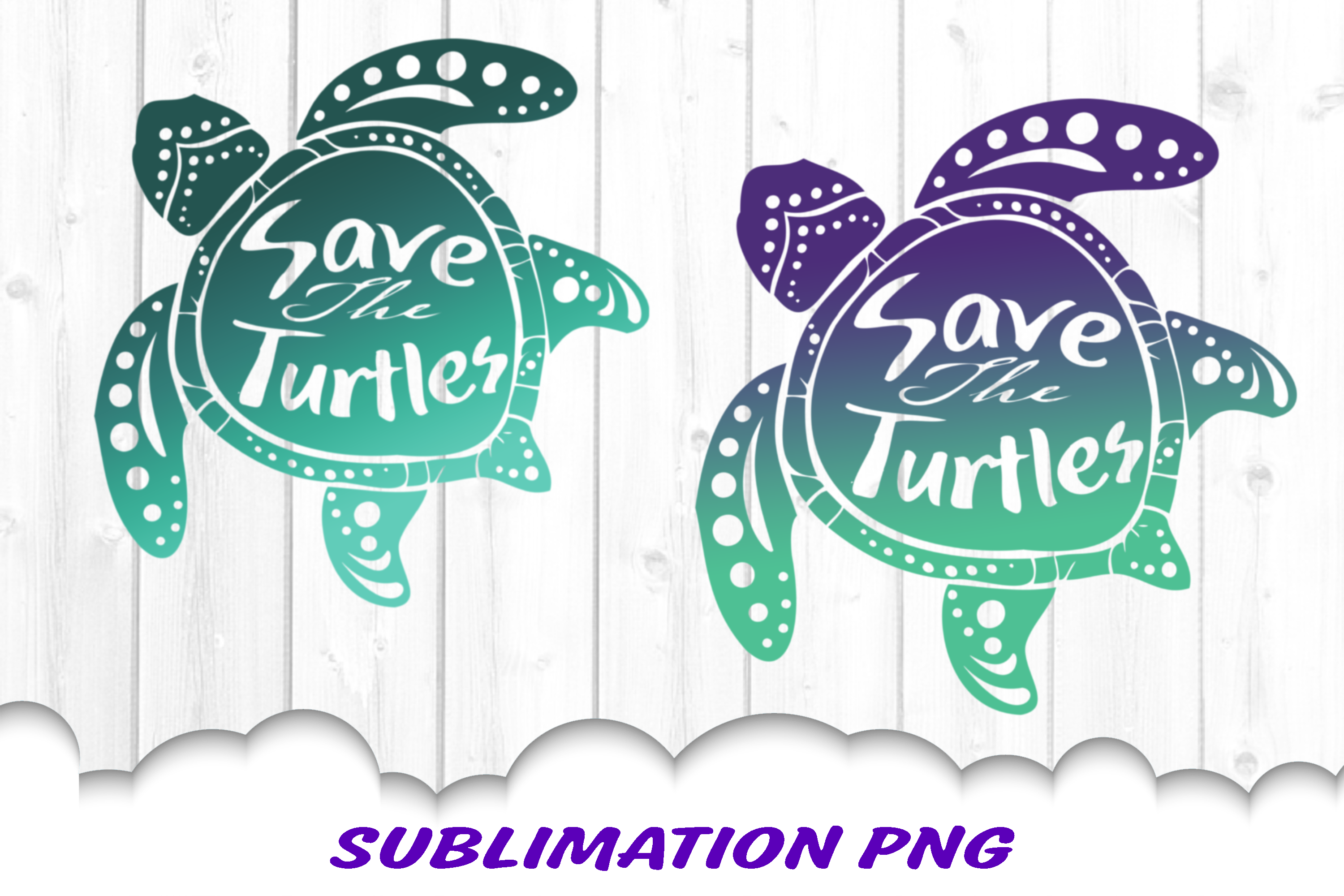 Sea Turtle Save The Turtles Sublimation PNG Bundle example image 3