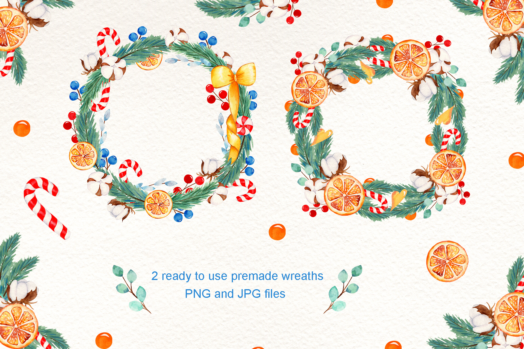 Wreath Creator Watercolor Clipart example image 4