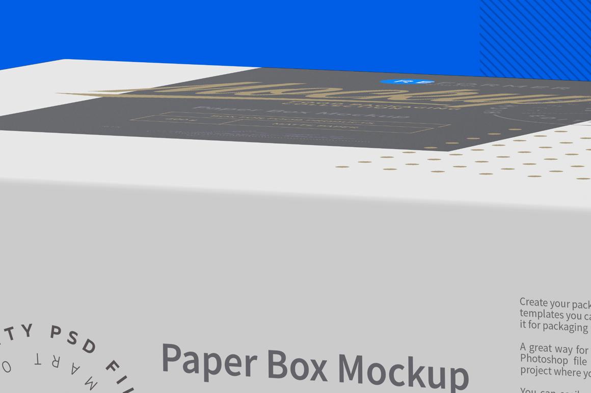 Paper Box Mockup Half Side View example image 5