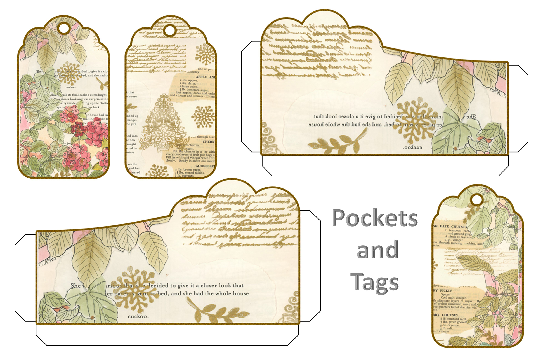 Winter Garden Backgrounds with Free Ephemera. Journaling Kit example image 8