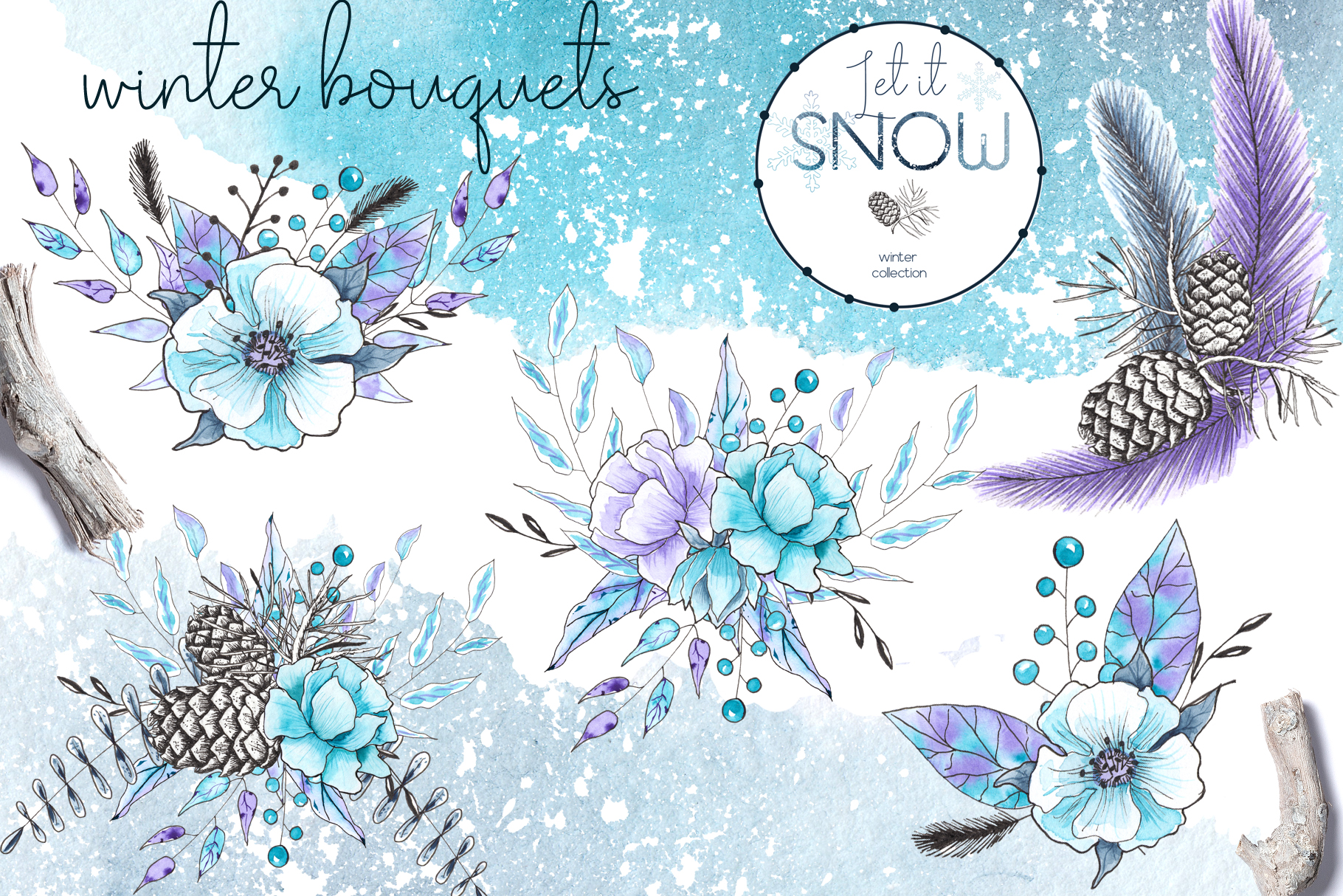Let it snow. Winter collection example image 4