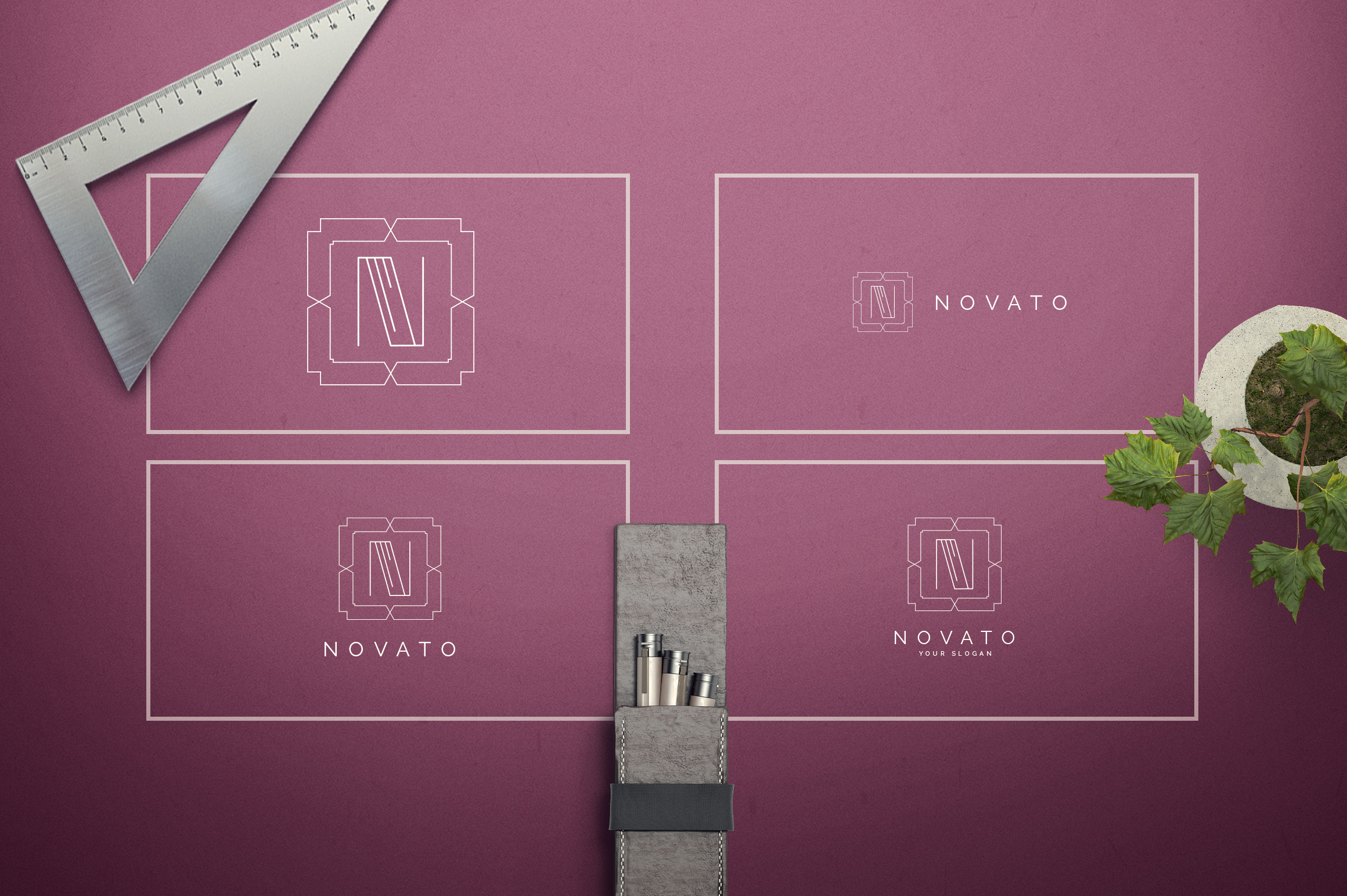 Geometric Letters and Logo Designs example image 15